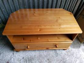 SOLID PINE TV UNIT WITH SPACIOUS DRAWER