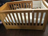 Mamas and Papas cot bed with drawer