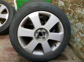 4x Audi 17 alloy wheels and tyres