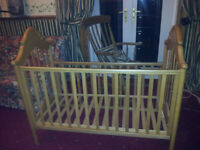 Mamas and Papas pine/beech baby cot/bed good condition