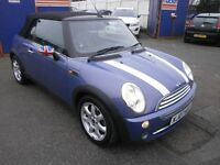 2007 MINI COOPER 1.6 AUTOMATIC, CONVERTIBLE, FULL LEATHER INTERIOR, VERY CLEAN CAR, DRIVES LIKE NEW