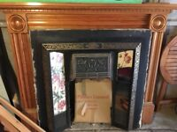 Free wooden mantel piece and fire surround