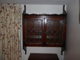 Wall Units, Old Charm make, two, Dark Oak wood Excellent Condition