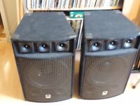 speakers x 2 one horn needs attention tidy pair hardwear and cases alone worth the money