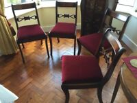 Dining chairs for sale - lovely condition - set of 4