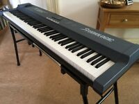 Keyboard midi controller - Studiologic Fatar SL880 weighted with aftertouch; stand, pedal, MIDI box