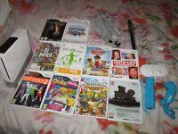 wii console bundle,20 games,power supply,av lead,sensor bar,console