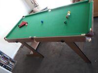 Snooker Table 6ft x 3ft folding type