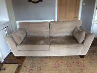 Four seater fawn sofa