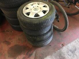 4x Skoda Fabia 14 inch steel wheels