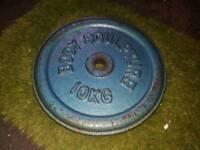 6×10kg body sculpture weight plates