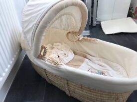 Moses Basket 'Please look after me '