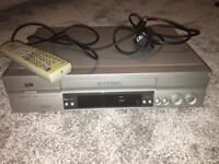 JVC VHS Video Cassette Recorder VCR Model HR J695EK & VHS Bundle & Cables/SCART
