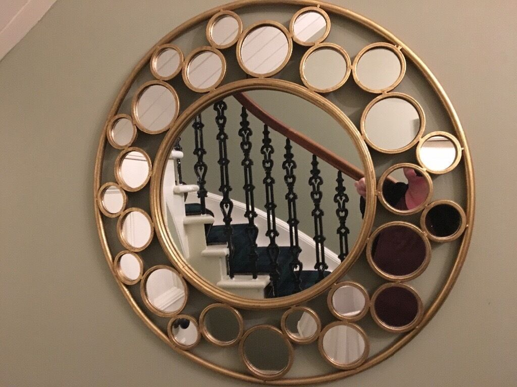 Unusual Mirror stunning brand new gold unusual mirror large | in bannockburn