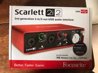 Focusrite Scarlett 2i2 (2nd Gen) BOXED AND UNREGISTERED