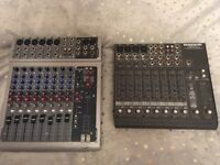 2 mixers peavey PV10 and Mackie 1202 VLZ Pro