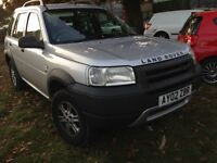 2002 Land Rover Freelander 1.8 GS SW 5dr silver 737 TBE BREAKING FOR SPARES
