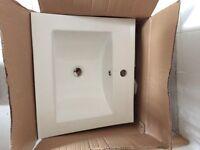 Rectangular ceramic bathroom sink, like new
