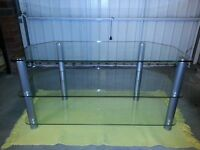 """Glass Stand For LCD & Plasma TV - Up to 50"""""""
