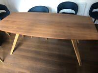 John Lewis Walnut 'Radar' contemporary 6- 8 seat dining table