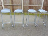 set of four heavy duty commercial grade stackable bar stools breakfast bar chair