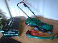 Qualcast Corded Rotary Mower 1300W and Grass Trimmer 320W - USED!