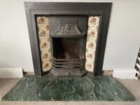 Cast Iron Victorian Fire Place with Marble Base