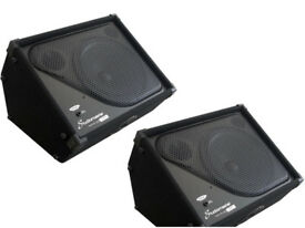 "2 x NEW Studiomaster PX12 Passive 12"" Wedge Stage Monitor Speakers"
