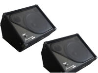 """2 x NEW Studiomaster PX12 Passive 12"""" Wedge Stage Monitor Speakers"""