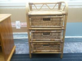 3 drawer rattan storage unit any reasonable offer considered