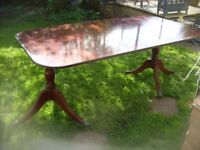 LARGE CLAW LEG MAHOGANY DINING TABLE
