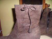 Brown Suede Boots Size 6