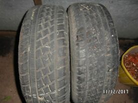 2X PIRELLI 205/65/15 WINTER / SNOW TYRES 8-9MM VGC HARDLY USED ...