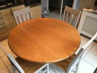 Wooden Kitchen Table and four chairs