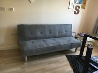 Plush Grey Sofa Bed For Sale - £100