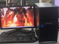 FAST DESKTOP GAMING COMPUTER PC INTEL i3 2.93GHz 8GB RAM 500 GB DVDRW