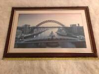 Large Framed Print Of The Tyne Bridges