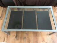 Modern, Industrial style Metal / Glass Coffee Table