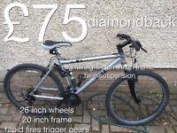 Gents Mountain Bikes £30 - £75 mountain bike cycle