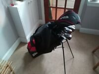 Wilson Beginner Complete Set, 11 golf clubs with deluxe stand bag ( left hands ) + set of balls