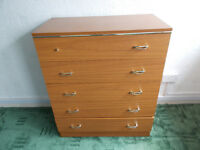 Chest of drawers, five drawers