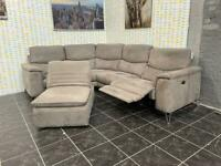 Sofology Grey Electric Recliner Corner Sofa+Footstool Chair+Usb Port