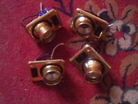 caravan 4 brass type 12v spot / reading lights