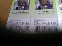 2 Tickets for Ayr Gold Cup,Club Admission