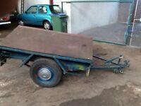 Classic 60's car trailer