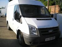FORD TRANSIT 2008 58 110 T300 FWD STARTS AND DRIVES GREAT MWB HIGH TOP