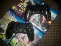 Ps4 2 pads 4 games