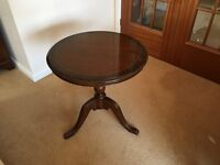 Round mahogany occasional table