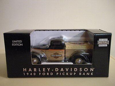 Harley Davidson 1940 Ford Pick Up Bank Dealer Only 1 25 Die Cast Seacoast N H