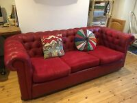Vintage Chesterfield 3 seat sofa